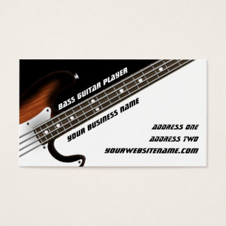 Bass Guitar Player Business Card