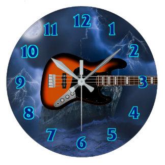 Bass Guitar Player Clocks