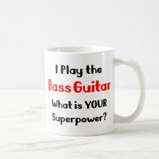 Bass guitar player coffee mug