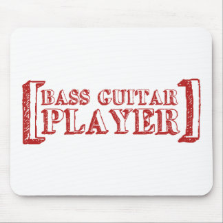 Bass Guitar  Player Mouse Mat