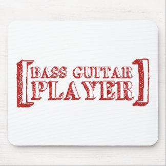 Bass Guitar  Player Mouse Mats
