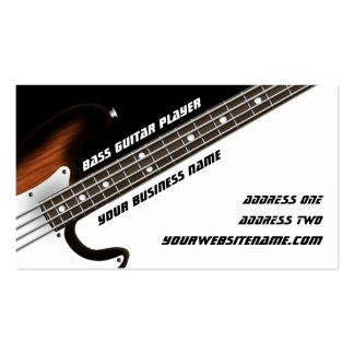 Bass Guitar Player Pack Of Standard Business Cards
