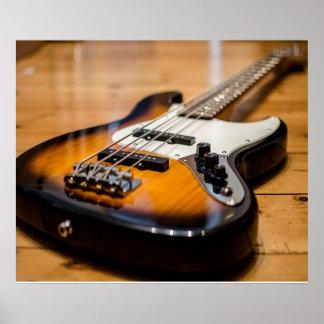 Bass Guitar Poster