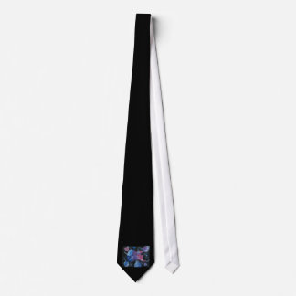 bass guitar purple pink blue planets right tie