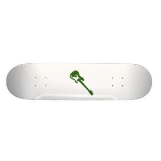 bass guitar slanted green graphic skateboards