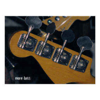bass guitar tuning pegs poster