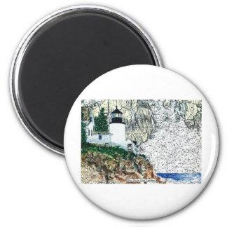 Bass Harbor 6 Cm Round Magnet
