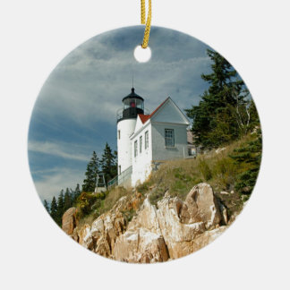 Bass Harbor Head Lighthouse Christmas Ornament