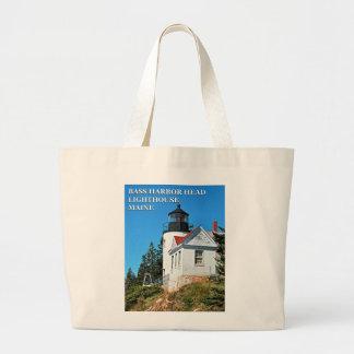 Bass Harbor Head Lighthouse, Maine Jumbo Tote Bag