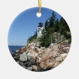 Bass Harbor Lighthouse 5 Christmas Ornament