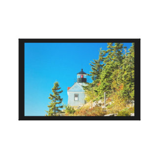 Bass Harbor Lighthouse  Mount Desert Island Maine Stretched Canvas Print