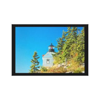 Bass Harbor Lighthouse  Mount Desert Island Maine Stretched Canvas Print