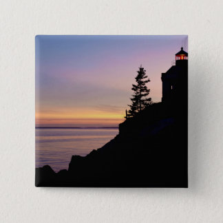 Bass Harbor lighthouse on Mt. Desert Island, 15 Cm Square Badge