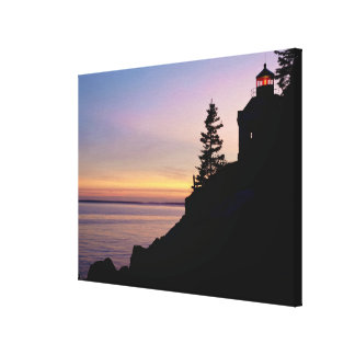 Bass Harbor lighthouse on Mt Desert Island Gallery Wrap Canvas