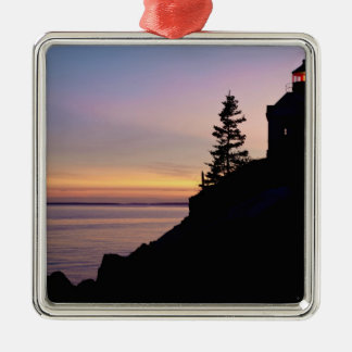 Bass Harbor lighthouse on Mt. Desert Island, Christmas Ornament