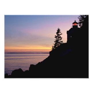 Bass Harbor lighthouse on Mt. Desert Island, Photo Print