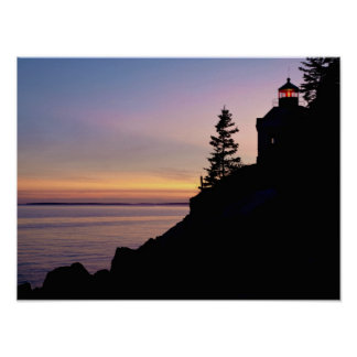 Bass Harbor lighthouse on Mt. Desert Island, Poster
