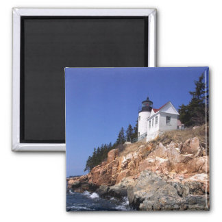 Bass Harbor Lighthouse Square Magnet