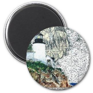 Bass Harbor Fridge Magnet