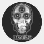 BASS HEAD Dubstep Artist Classic Round Sticker