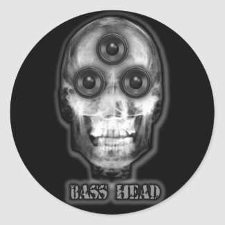 BASS HEAD Dubstep Artist Classic Round Sticker