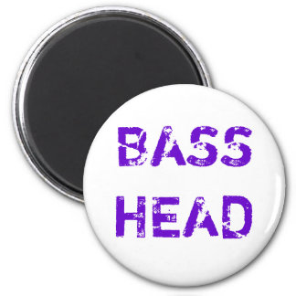 Bass Head magnet purple
