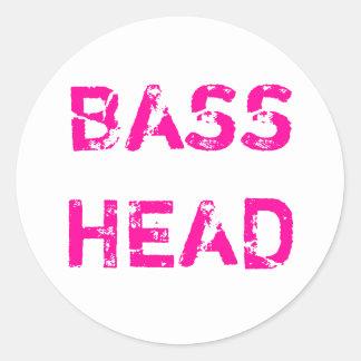 Bass Head sticker (pink)