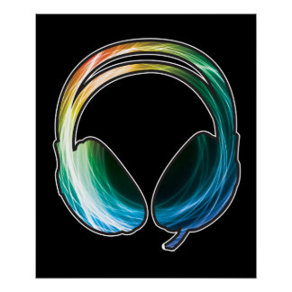 Bass Headphone Poster