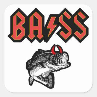 Bass (Horns) Square Sticker