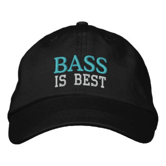 Bass Is Best Music Cap Embroidered Baseball Caps