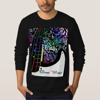 Bass Magic Rainbow Notes Music T-Shirt