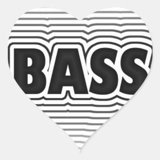 Bass Music Design Heart Sticker
