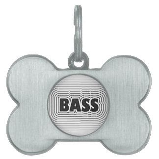 Bass Music Design Pet Name Tag