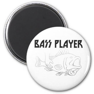 Bass Player 6 Cm Round Magnet