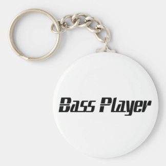 Bass Player Basic Round Button Key Ring