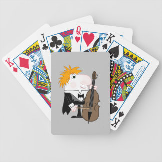 Bass Player Bicycle Playing Cards