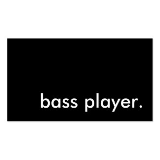 bass player business card template
