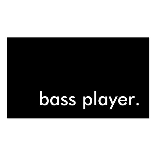 bass player. business card template