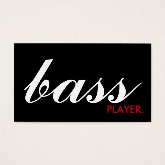 BASS player. (colour customisable) Business Card