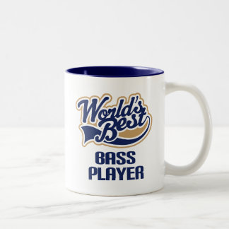 Bass Player Gift (Worlds Best) Two-Tone Coffee Mug