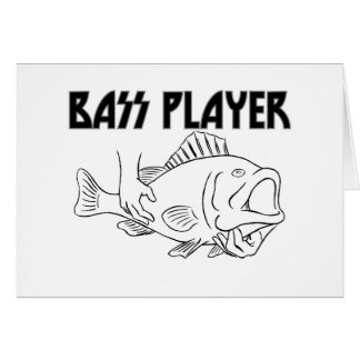 Bass Player Greeting Card