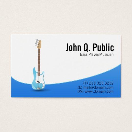 Bass Player Guitarist Musician Business Card