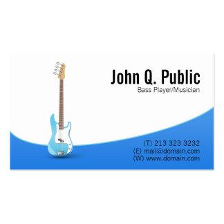 Bass Player Guitarist Musician Pack Of Standard Business Cards