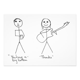Bass player humour- You Have A Big Bottom Custom Invites