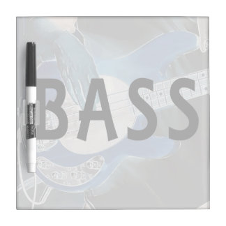 bass player invert text four string bass hands dry erase board