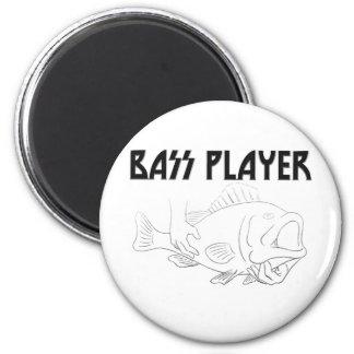 Bass Player Fridge Magnets