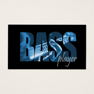 Bass Player Musician Business Card