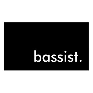 bass player. pack of standard business cards