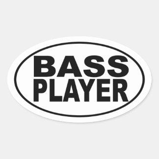 Bass Player Oval Sticker