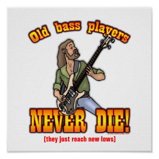 Bass Players Poster